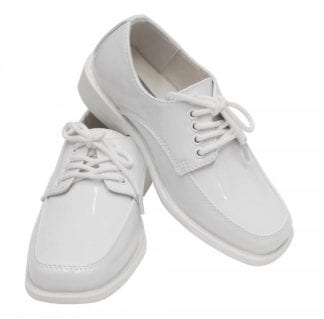 Boys White Dress Shoes Square Toe Shoes for Tuxedo or Suit