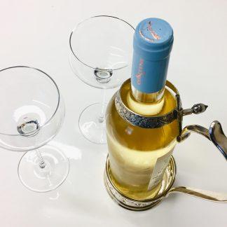 Porta bottiglia in argento 800