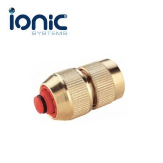 Brass QR female fitting with auto-stop