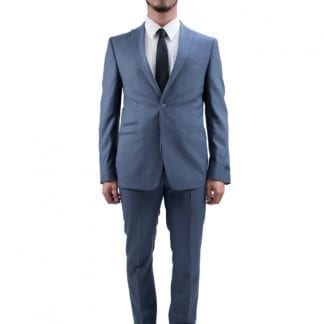 Tallia Slim Fit Two Button Wool Peak Lapel Suit Pinstripe