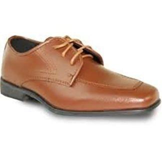 Boys Black Matte Lace Up Dress Shoes