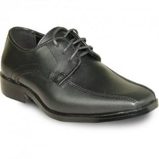 Boys Black Dress Shoes with Buckle Patent Leather