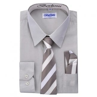 silver boys dress shirt