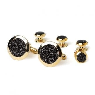 Shiny Blank Silver Cuff Links Wide by Vittorio Vico