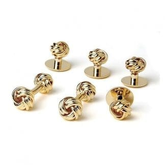 Two Sided Love Know Cufflinks Studs Gold