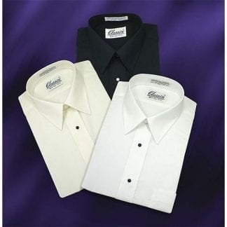 Black Slim Fit Dress Shirt Convertible French Cuff