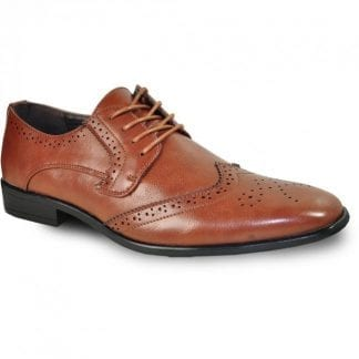 Leather Oxford Dress Shoe with Toe Cap Design by La Milano