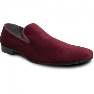 Mens Velvet Loafer slip on Dress shoe- Prom- Weddings