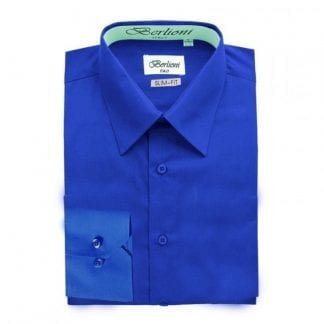 Aqua Slim Fit Dress Shirt Convertible French Cuff