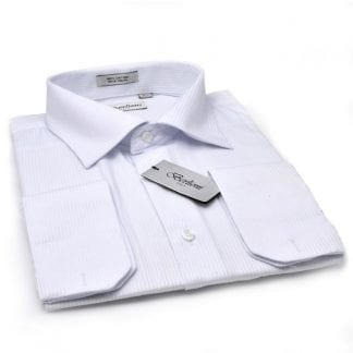Dress Shirt All Cotton White All Cotton Takes Cufflinks