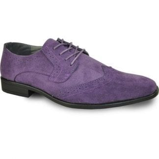 purple suede wingtip oxford shoe