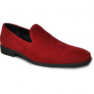 Red Suede Slip On Dress Shoes