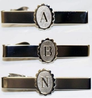 Tie Bar Engraved With Initial Letter