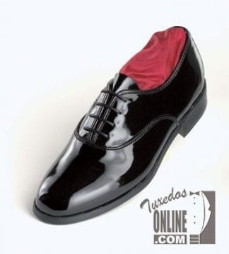 Mens Leather Lace up Tuxedo Shoes