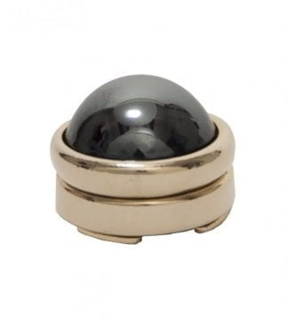 Hematite Button Cover Gold