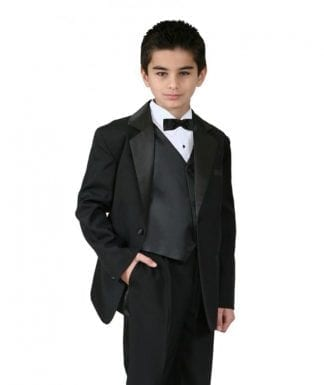 Boys Suit 5 Piece Solid Fully Tailored Suit