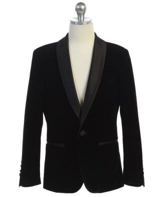 Boys Black Pin Striped 5 piece Suit CLOSEOUT- Limited Inventory