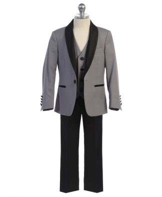 Gray Shawl Lapel Tuxedo Boys Slim Fit