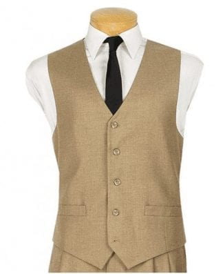 Mens Paisley Tone On Tone Ivory Off White Vest with Tie Set