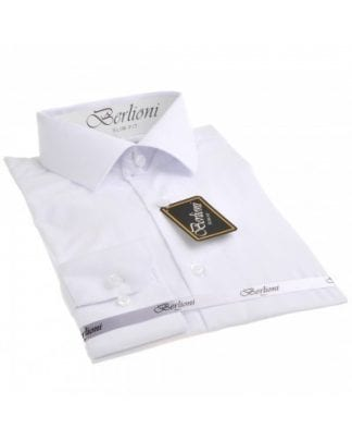 Slim Fit White Dress Shirt
