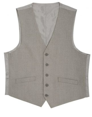 Men's Suit Vest Light Gray