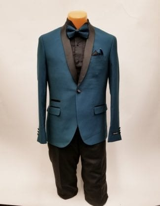 Rose Gold Tuxedo One Button Shawl Lapel Prom and Wedding