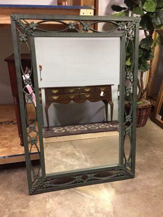 wrought iron style mirror