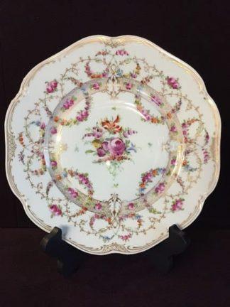 Dresden hand painted plates - set of ten