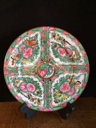rose medallion vintage plate