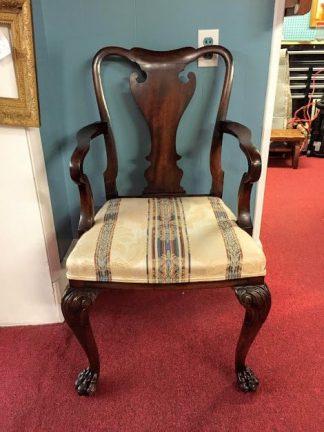 antique mahogany queen anne chair