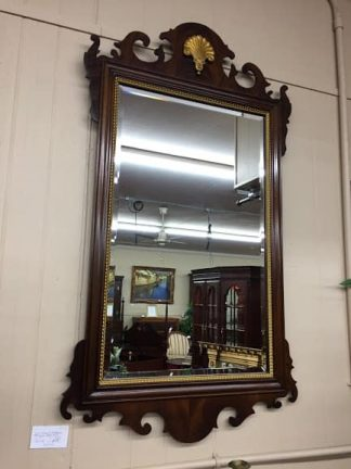 Councill Craftsman Mahogany Chippendale Style Mirror