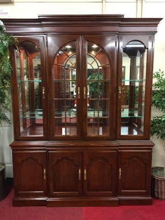 harden cherry china cabinet