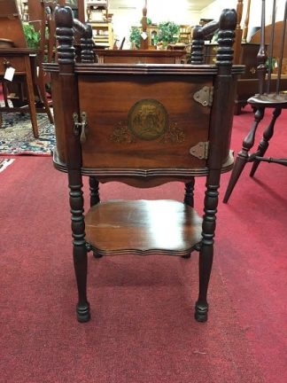 antique smoking stand with copper lining