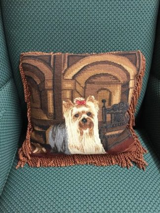 Shih Tzu Embroidered Pillow