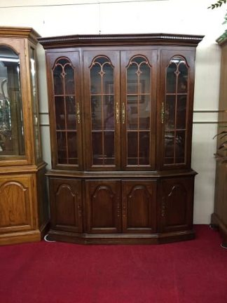 Pennsylvania House China Cabinet with Scroll Work Doors