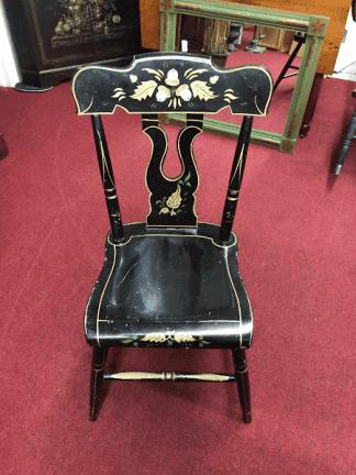 Vintage Stenciled Plank Bottom Chair