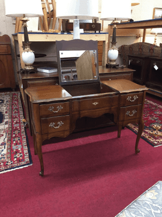 Cherry French Provincial Vanity