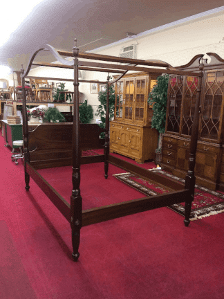 Vintage Cherry Canopy Poster Bed