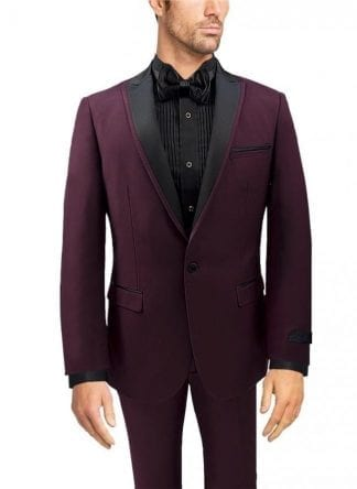 Rossi Man Slim Fit Tuxedo Suit with Peak Lapel