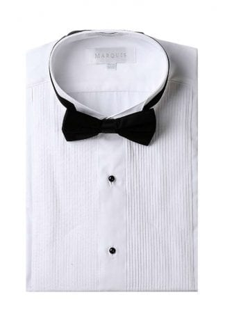 Wing Tip Tuxedo Many Colors Shirt and Bowtie Slim Fit