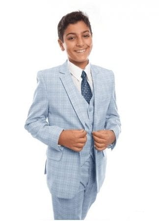 Boys Microfiber Three Piece Suit Set