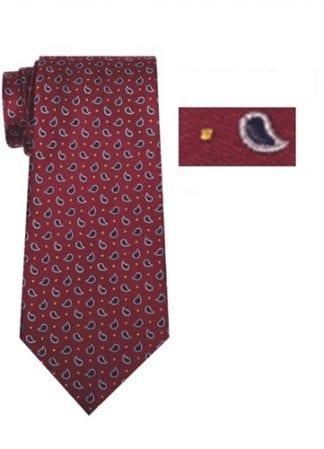 Mens Skinny Brown and Navy Plaid Microfiber Selftie Necktie