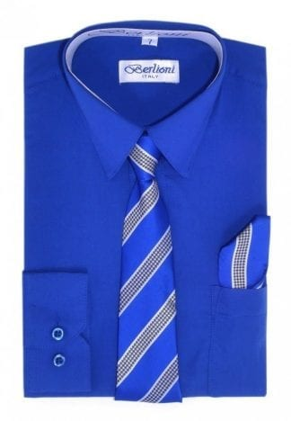 royal blue boys dress shirt