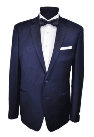 Black Slim Fit Tuxedo coat only Two Button Notch Mens Wedding or Prom Tuxedo