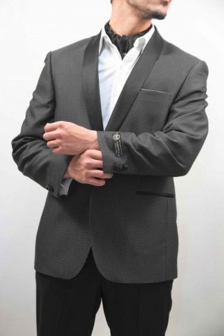 Tuxedo Men's Dimond Pattern 2 Button Shawl Lapel