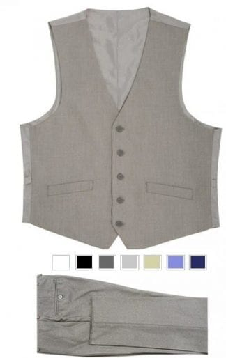 Mens Rustic Slim Fit Wool Tweed Vest with inner pocket Black and White two tone