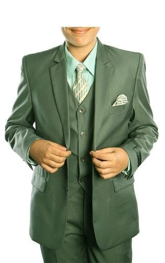 Boys Suit Green 5 Piece