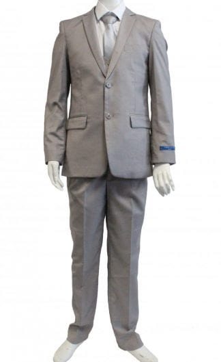 Boys White tails Tuxedo with Paisley Patttern Lapel- Vest- Bowtie