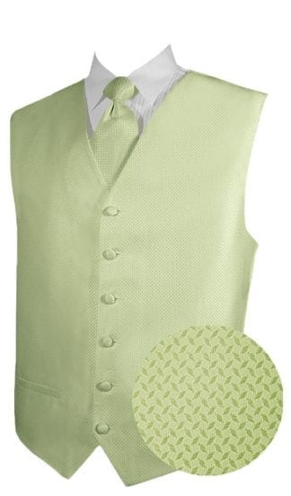 Mens Satin Hunter Green Vest – Holiday- Christmas