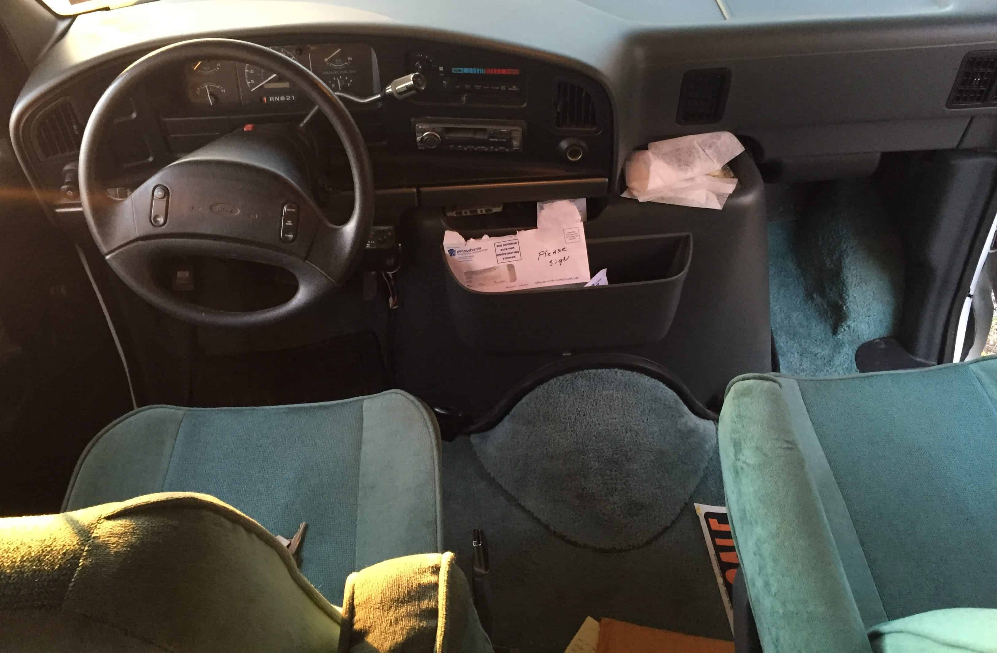 rv front cab before teal